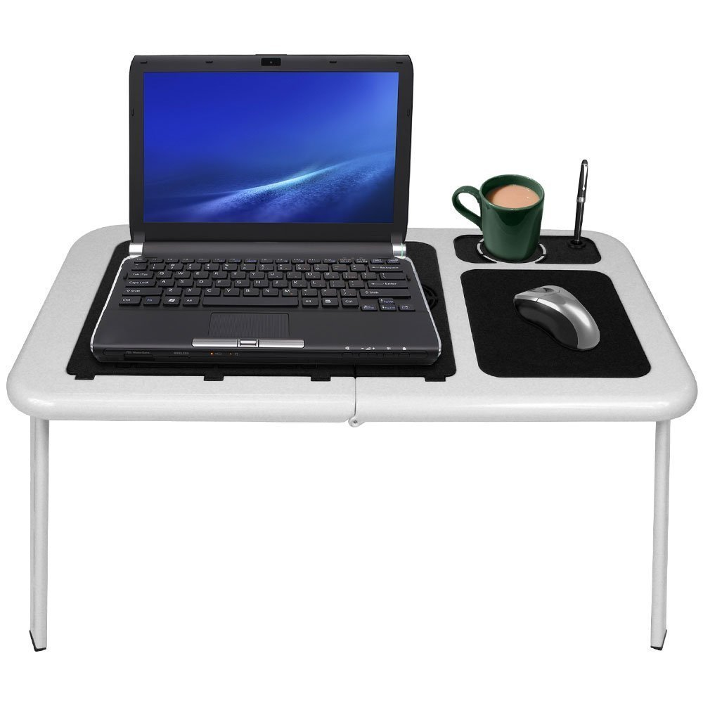 Hot sell Foldable notebook Laptop Table with 2 Fans Mouse Pad and Cup Holder For xiaomi mi notebook air bed laptop stand desk