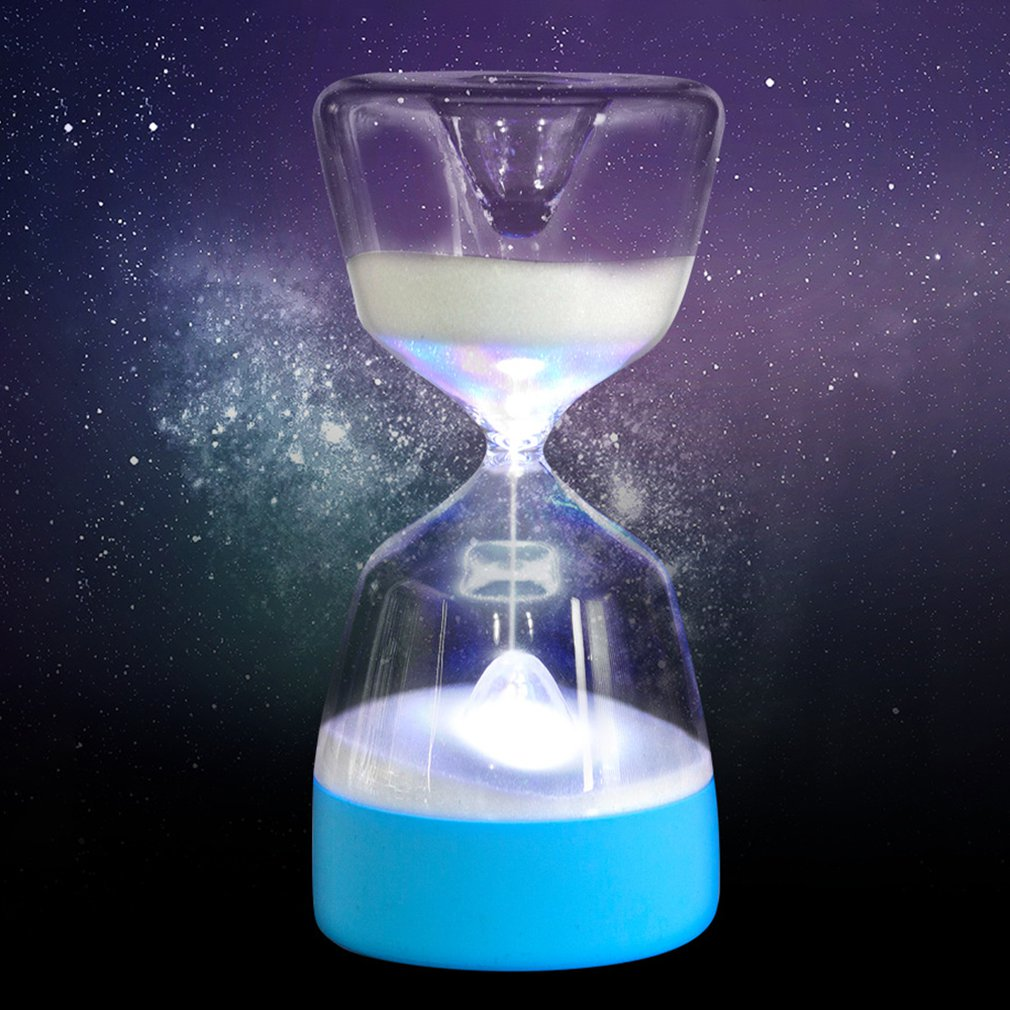 Hourglass Timer Night Light Lamp Color Changing Good Atmosphere Home Decoration With Touch-Sensitive Switch Design
