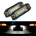 2pcs 3 LED Error Free Number License Plate Light Bulbs Car Accessories Fit For Volvo S80 S60 V60 C70 V70 XC70  XC90 XC60 V50 S40