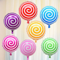 50pcs Lot Lollipop 18 Inch Aluminum Film Balloon Birthday Party Decorations Kids Wedding Decorations Balloon Wholesale