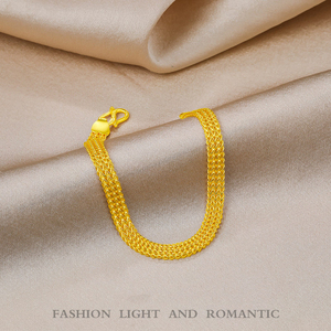 Image 4 - 24K Reinem Gold Armband Echt 999 Solid Gold Armreif Gehobenen Schöne Schmetterling Romantische Trendy Klassische Schmuck Heißer Verkauf Neue 2020