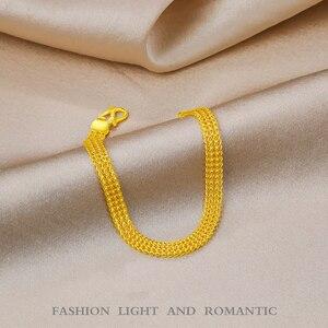 Image 4 - 24K saf altın bilezik gerçek 999 katı altın bileklik lüks güzel kelebek romantik moda klasik takı sıcak satış yeni 2020
