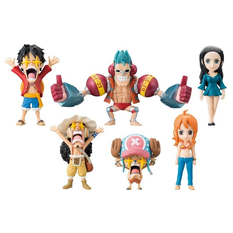 Anime One Piece Star Eyes Funny Luffy Chopper Usopp Cute Figure Model Toys