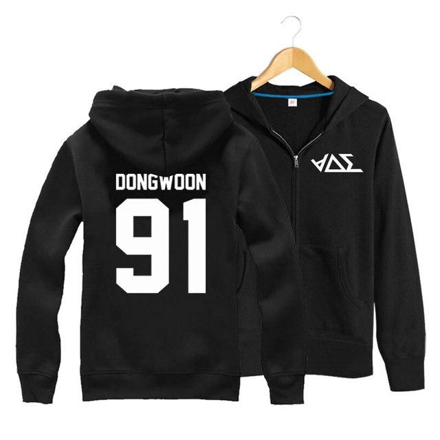 33937a4fd488 BEAST B2ST Korean Style K-Pop Active Hoodie Sweatshirt Sportswear Women Men  Teenagers Couple Spring Autumn