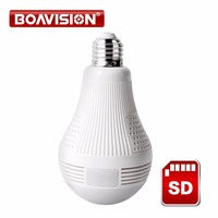 960P Wireless Panoramic IP 3D VR Camera WIFI Bulb Light FishEye Surveillance 180 360 Degree CCTV
