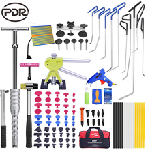 PDR Tools Hooks Push Rods Paintless Dent Removal Car Repair Tool Kit Door Dent Hail Removal Auto Tool Set Dent Puller Glue Tabs