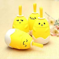 Creative Small Yellow Egg Water Bottle High Quality Double Portable Glass Bottles Mini Cute Cartoon Gift