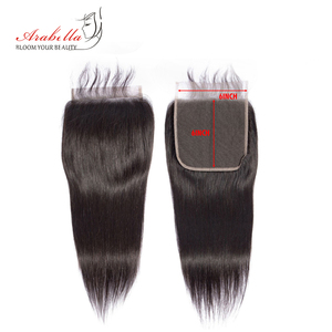 Image 5 - 6*6 Lace Closure Brazilian Straight Closure Natural Color Arabella Remy Hair Pre Plucked Bleached Knots Closure With Baby Hair