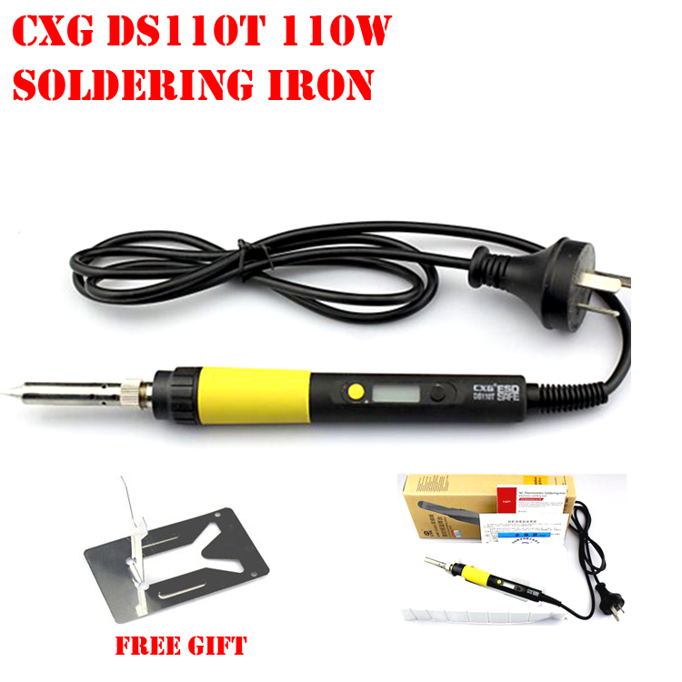 buy new arrived high quality digital lcd electric soldering iron 110w cxg. Black Bedroom Furniture Sets. Home Design Ideas