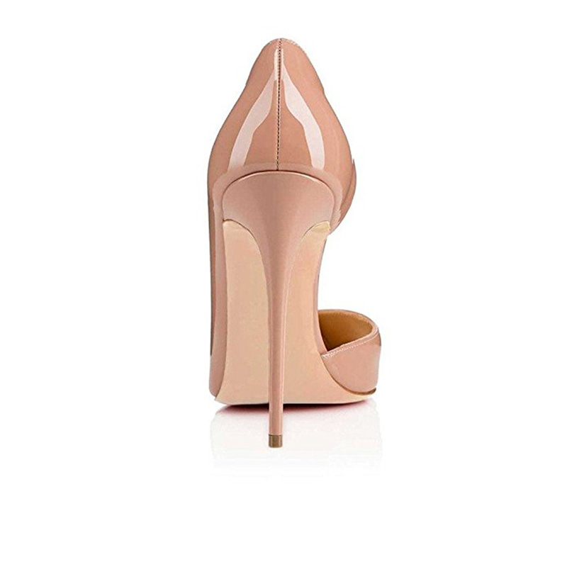 Talon Automne Casual Stiletto Haute Classique Femmes Nu Nude Printemps Cuir black Coréenne Verni Hauts Pointu Pompes À En Mince Chaussures Talons SEqq6xwf