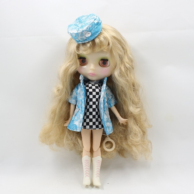 Neo Blythe Doll AirHostess Uniform With Hat & Coat