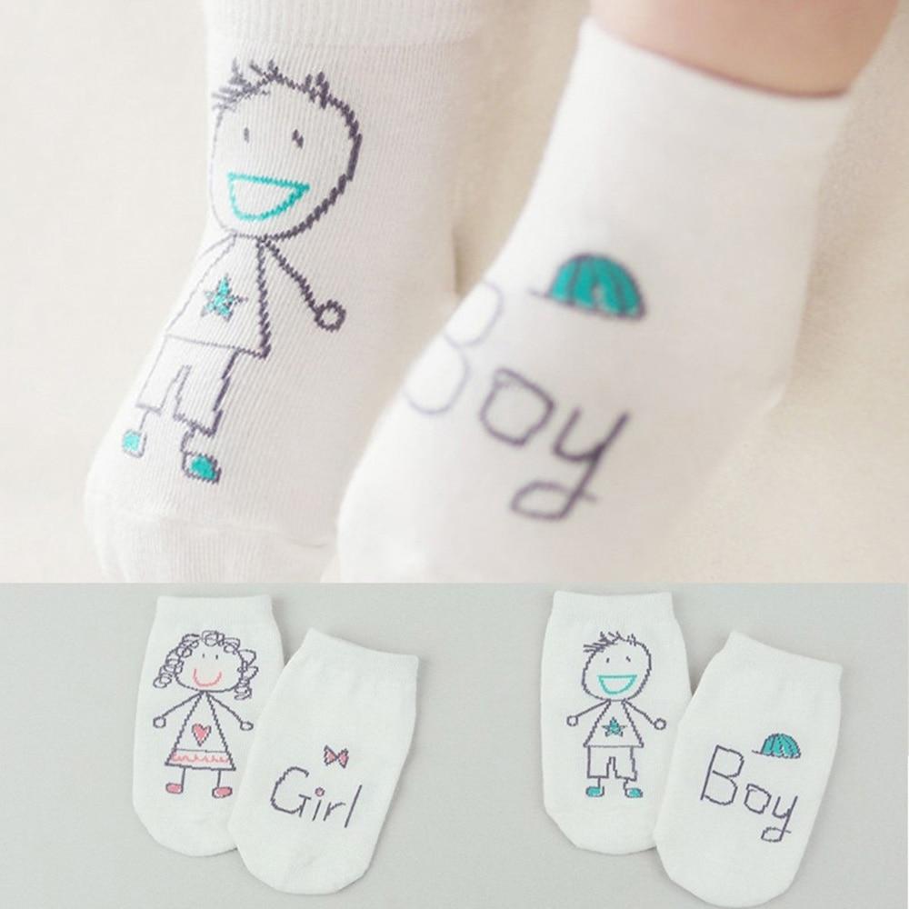 Neue Geboren Baby Kleinkind Socken Baumwolle Jungen Mädchen Nette Weichem Anti-slip Frühling Socken Für 0-4 Jahr Kleinkind 1 Para Socken