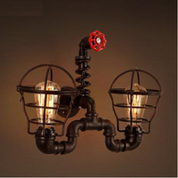 IWHD Iron Water Pipe Loft Style Wall Lamp Industrial Vintage Beside Light Fixtures For Indoor Home Lighting Lamparas De Pared