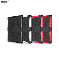 Heavy Duty Impact Hybrid Armor Cover Kick Stand Hard Plastic Case For Apple IPad 2 3