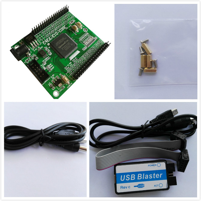 EP4CE6 altera fpga development board + USB Blaster fpga kit altera kit fpga board altera board cyclone IV board