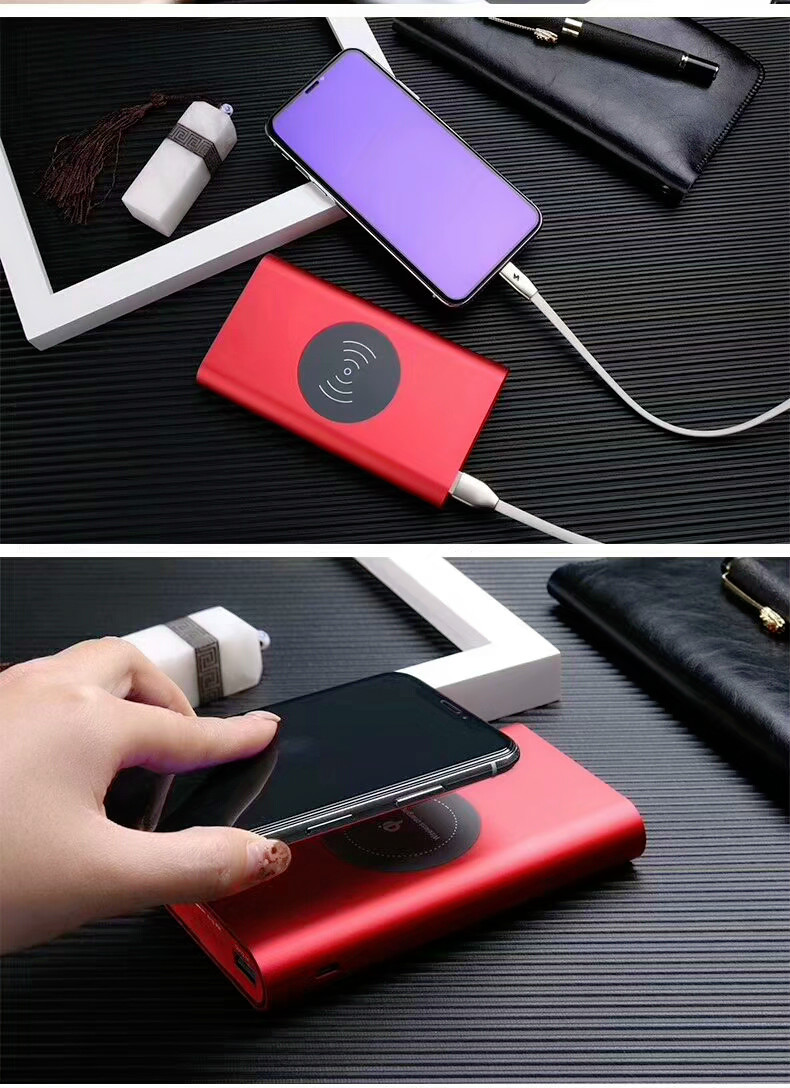 Best 10000 mAh QI Wireless Charger Power Bank for iphone 7 6s samsung galaxy s6 s7