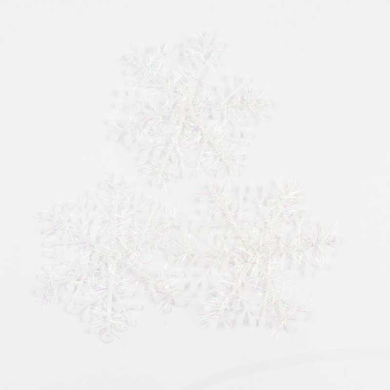 6 Pcs 11 Cm Kerstboom Decoraties Sneeuwvlokken Wit Plastic Kunstmatige Sneeuw Kerst Decoraties Voor Huis Drop Shipping