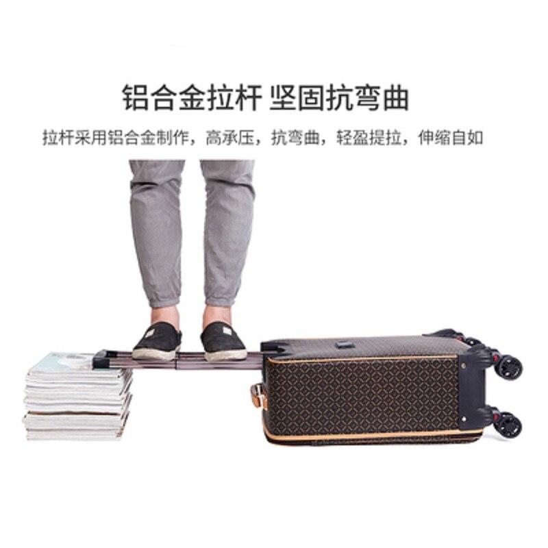 Bagaj ve Çantalar'ten Tekerlekli Bagaj'de Uluslararası moda lüks 16/20/24 inç çanta + haddeleme bagaj Spinner marka kadın seyahat bavul'da  Grup 2