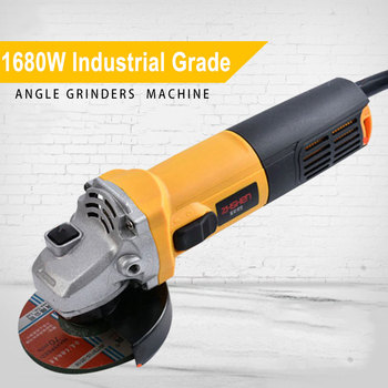 1680W Angle Grinder Single Speed 115000 RPM Multi-functional Sanding Maching Electric Angle Grinder 220V 50Hz Cut-Off Tool