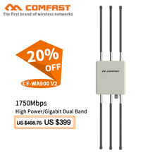 Comfast 1750Mbps Dual Band 5Ghz High Power Outdoor AP router Wifi Access Point AP 6*8dBi Antenna WiFi Cover Base Station WA900V2 цена 2017