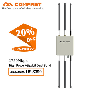 Comfast 1750Mbps Dual Band 5Ghz High Power Outdoor AP router Wifi Access Point AP 6*8dBi Antenna WiFi Cover Base Station WA900V2 comfast 1750mbps wifi router 2 4g 5 8g ac manage router 1wan 4lan 802 11ac access point wi fi router for big area wifi coverage