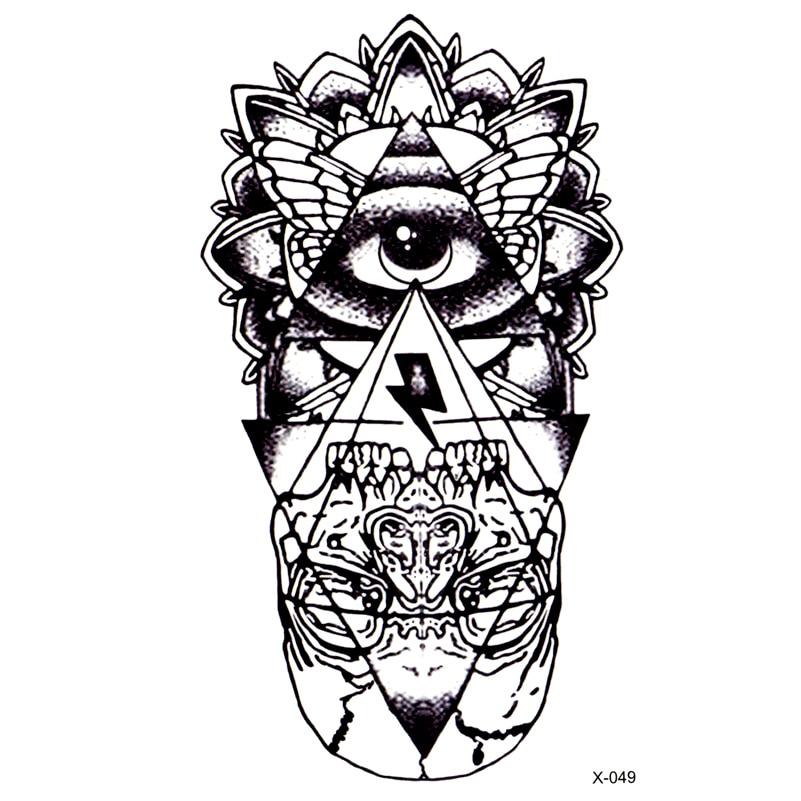 Глаз Бога Водонепроницаемый Временные татуировки Стикеры Тотем тату хной боди-арт поддельные татуировки Бога» S глаз флэш тату для Для мужчин; для женщин
