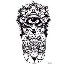 Eye of God Waterproof Temporary Tattoos Sticker totem  henna tatoo body art  fake tattoo God' s eye flash tattoo for woman men