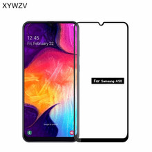 2PCS Full Glue Cover Glass For Samsung Galaxy A50 Tempered Screen Film