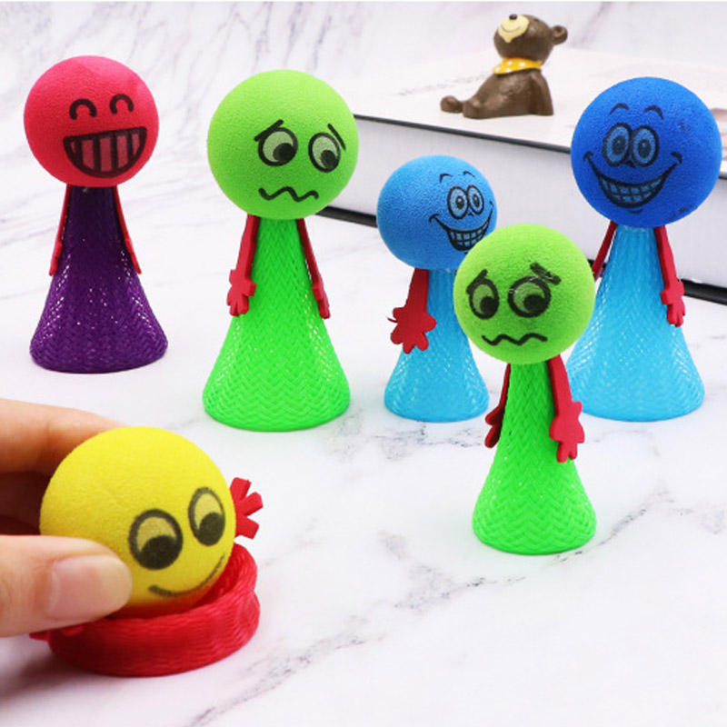 Fly Man Cartoon Mini Funny Bounce Doll Kids Baby Children Educative Luminous Large Party Gift Colorful Toy