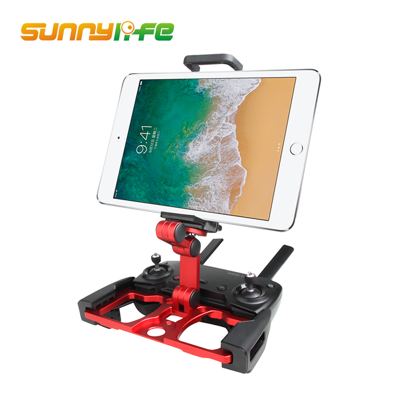 Sunnylife for DJI Remote Controller Smartphone/Tablet Clip Holder for DJI Mavic Pro/Air/ Spark Drone CrystalSky Monitor Bracket zb452kg 1a052ru