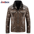 Free shipping New brand joobox solid men's leather European yards men PU vintage locomotives furs Men's PU jacket,Coats