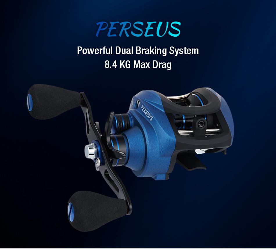Piscifun Perseus Dual Brake System Baitcasting Reel