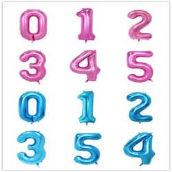32 дюймов розовый синий 40 дюймов красный фольгированный шар большой гелиевый номер 0-9 Globo день рождения для детей Вечеринка мультфильм шляпа