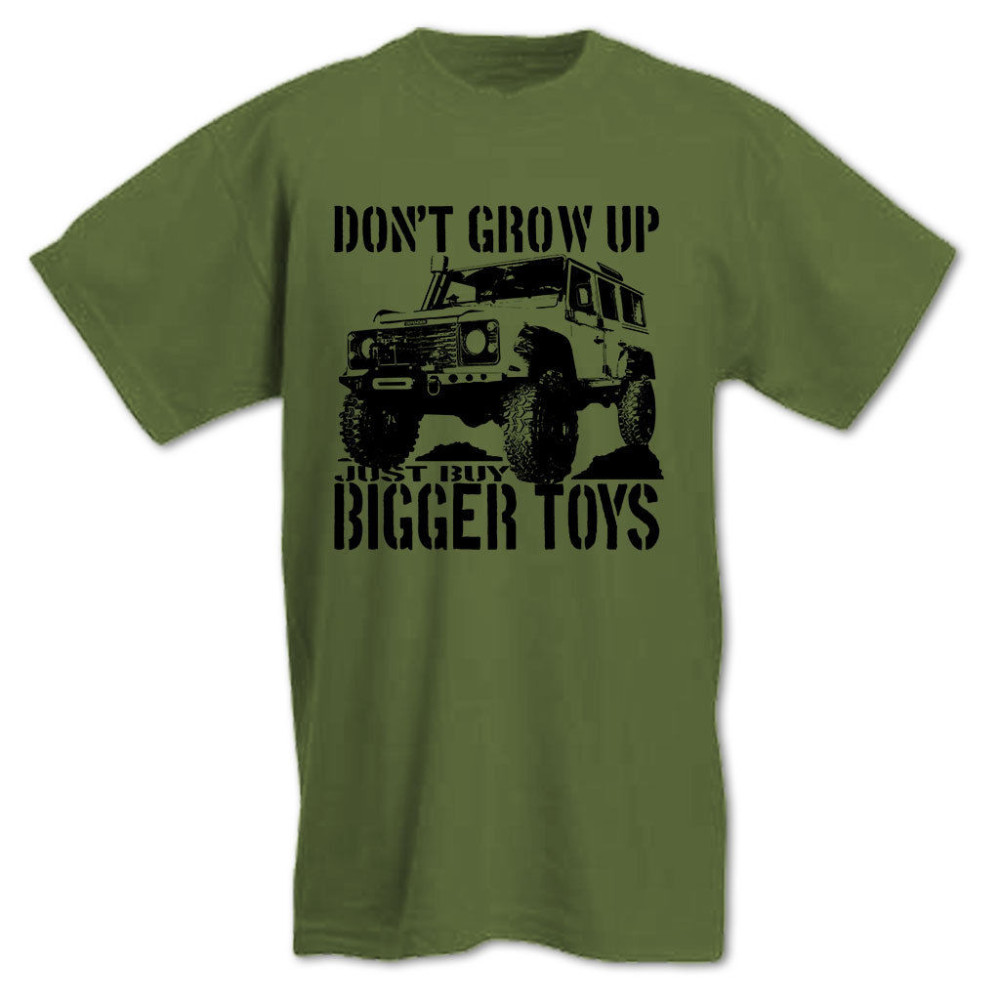 2018 Moto GP 4X4 Off Road Men's T-Shirt Don't Grow Up Just Buy Bigger Toys Funny