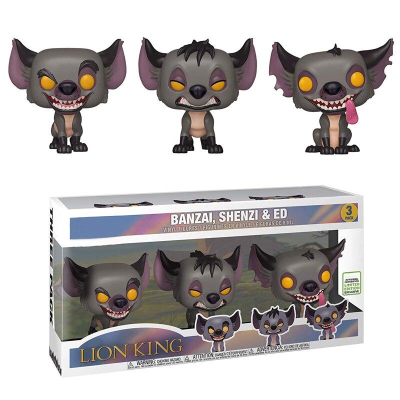 Leão rei figuras 3-pacote popular edição limitada hienas banzai shenzi ed figuras collectible modelo brinquedos presente boneca para crianças