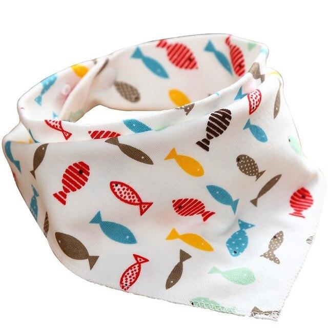 Cotton Newborn Baby Bibs Cute Feeding Bib Baby Nursing Bandana Burp Cloth For Girls And Boys Double Side Baby Scarf