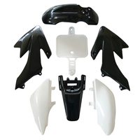 New Promotion 7pcs Plastic Fairing Blackand White Color For Motorcycle Honda CRF XR 50 Car Motorcycle