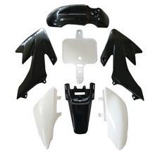 7Pcs Plastic Fairing Blackand White color for Motorcycle Honda CRF XR 50 Car Motorcycle Bike Exterior Accessories Car Styling