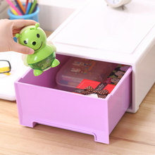 large capacity Makeup organizer Plastic underwear socks storage box home products drawer kitchen single layer cosmetics box(China)