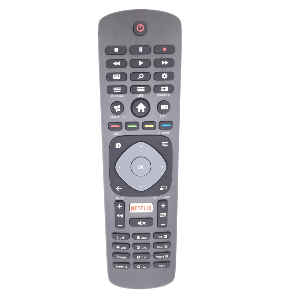 65PUS6121 Remote Control For Philips 6000 series 4K Ultra Slim Smart LED TV With Pixel Plus With NETFLIX Buttons