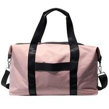 TOP!-Women Pink Sports Bag Black Nylon Waterproof Gym Bag Independent Luggage Storage Handbag Outdoor Travel Bags футболка independent tcbtg black