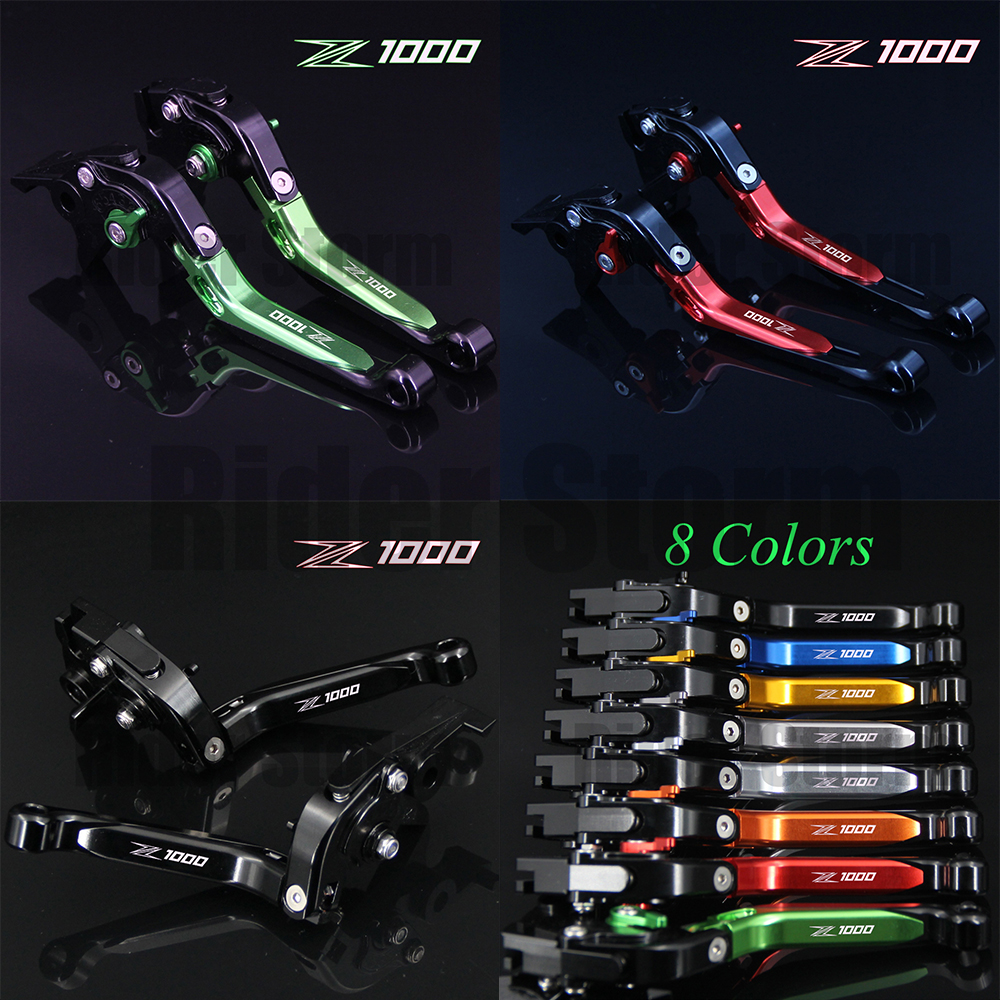 Hot sales Logo Z1000 CNC Motorcycle Brake Clutch Levers For Kawasaki Z1000 2007 2008 2009 2010 2011 2012 2013 2014 2015 2016 hot one pair cnc pivot dirttbike brake clutch levers for honda crf450r 2007 2015 2008 2009 2010 2011 2012 2013