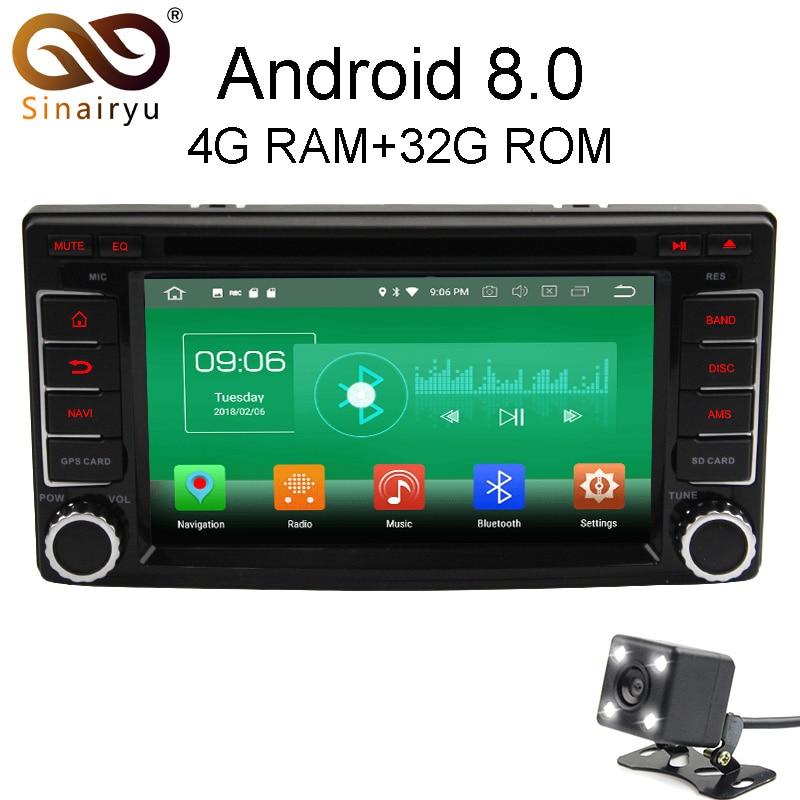 Sinairyu 4 г Оперативная память Android 8.0 автомобиль DVD для Subaru Forester Impreza 2008 2009 2010 2011 Octa core 32 г встроенная память Радио GPS плеер головное устройство