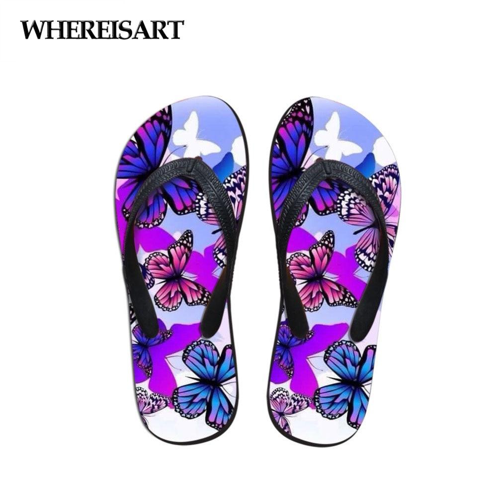 Girls Butterfly Print FLIP Flop
