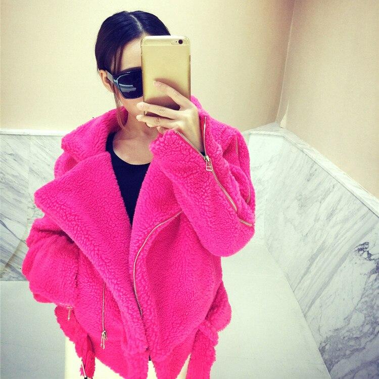 Wang Femmes 2476 À Faux Laine Fourrure Ww 2018 Whitney Glissière Mode Streetwear D'hiver Automne Outwear Manteau Agneaux Casual Hiver Fermetures Fdfqw6