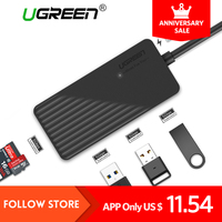 Ugreen All In One USB HUB High Speed 3 Ports USB 3 0 HUB With TF