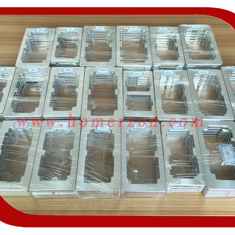 2Pcs/set Alignment Mould Metal Mold LCD Outer Glass Lens Repair For Iphone 6 6 plus/ 7 7P Screen Mould Holder Touch Screen ...