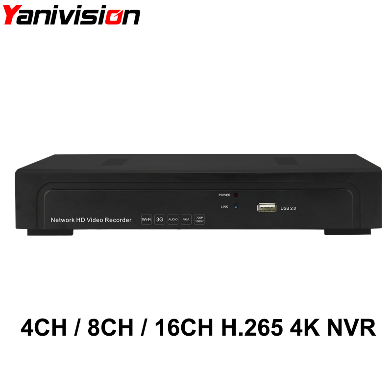 H.265 16CH 4K 8MP NVR 4K Output Security Network Video Recorder Full HD ONVIF Alarm Audio 16CH 8CH 4CH 4K 5MP 4MP 3MP 2MP NVR
