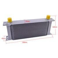 16 Row Sliver 10AN Aluminum Transmission Cooler  Racing Oil Cooler Raditor Kit  Engine Oil Cooler Universal Modified