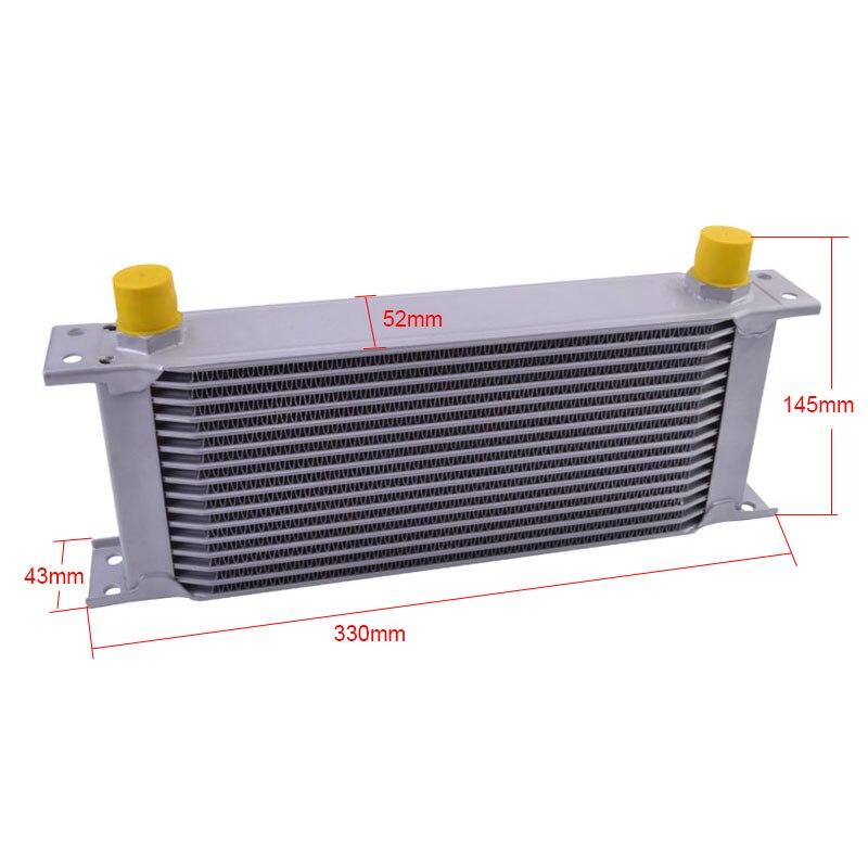 Racing Transmission Fluid Cooler : Speedway row sliver an aluminum transmission cooler